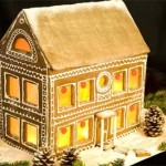 Boston Massachusetts winter gingerbread cottage to buy on line
