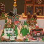 Chicago Illinois Gingerbread custom christmas village mountains