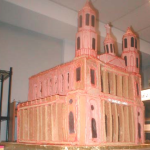 Chicago Illinois twelve foot high custom gingerbread church and steeple