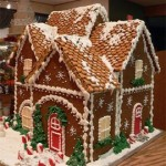 California Anaheim four peeks Christmas gingerbread home