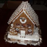 Canada Quebec Silver steak chocolate kiss roof eatable Christmas gingerbread home