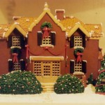Christmas gingerbread Virginia mansion custom trees doors windows