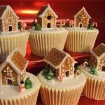 Louisville Kentucky Miniature gingerbread Christmas houses cup cakes