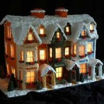 Newark-new-Jersey-Gingerbread custom night cottage with lights