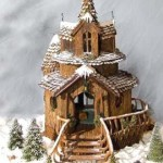 Seattle-Washington-Three-tiered-Christmas-Custom-Gingerbread-fairy-tale-home