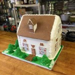 Minnesota-Minneapolis Snow-White-cabin-custom-Gingerbread-home