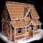 San-Diego-California-Two-tier-Christmas-custom-gingerbread-house